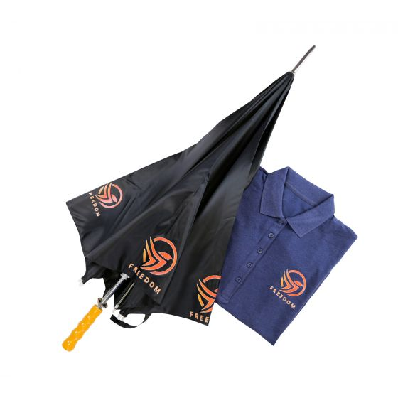Hotmarkprint Revolution parapluie et polo