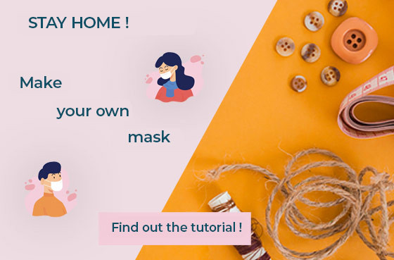 Make your own protective mask at home!